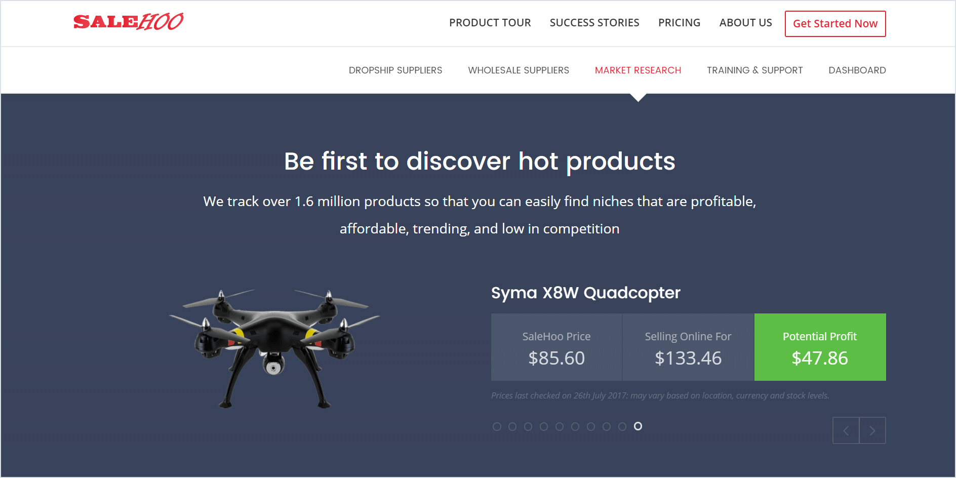 Be the first to discover hot products that sell with salehoo
