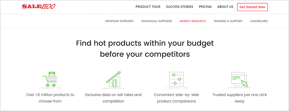 Finding hot dropshipping products with salehoo