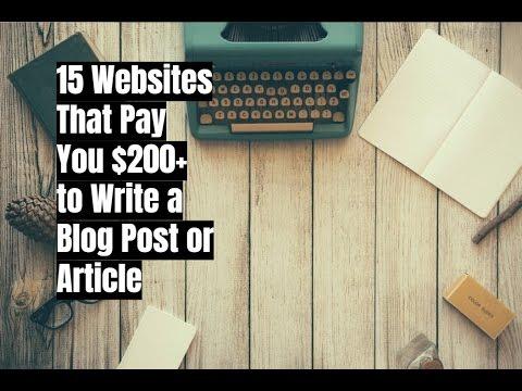 15 Websites, die Sie $ 200 + zahlen, um einen Blogbeitrag oder einen Artikel zu schreiben