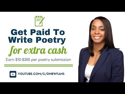 Holen Sie sich bezahlt, um Gedichte online zu schreiben: Verdienen Sie $ 10- $ 300 pro Gedichtvorlag