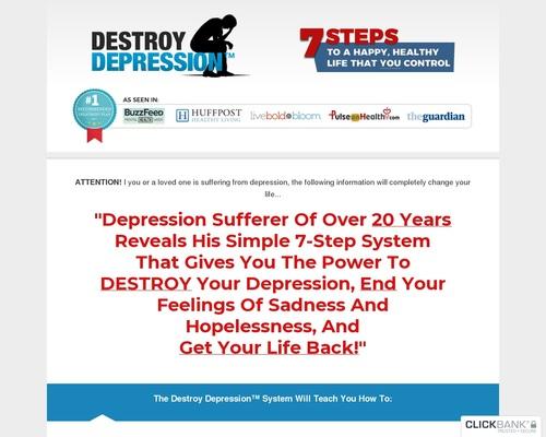 Vernietig Depressie ™ – Herbegin vir 2018 – $ 100 Aff Bonus!
