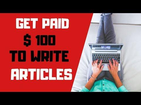 Wie man bezahlt wird Sofort $ 100, um Artikel zu schreiben (2019)