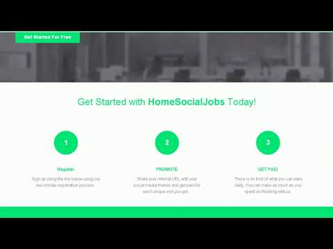 #HomeSocialJobs – @@ – Online arbeiten und sofort bezahlt werden #