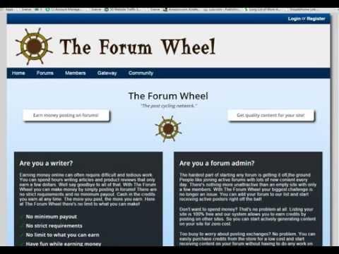 Erhalten Sie täglich bares Geld, um Beiträge auf das Forum-Rad zu senden