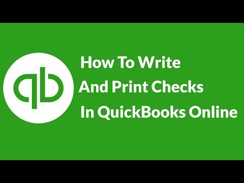 So schreiben und drucken Sie Schecks in QuickBooks Onlin