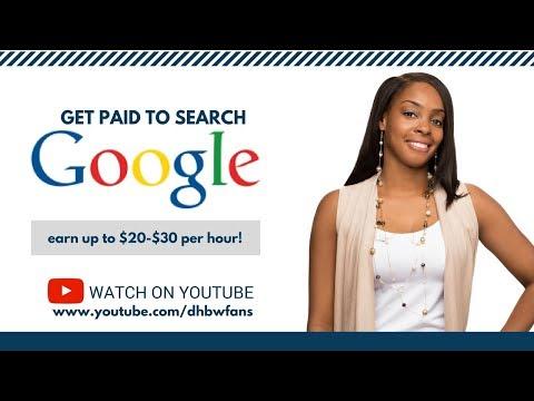 Für die Suche bei Google bezahlt werden: Verdienen Sie bis zu 20 US-Dollar pro Stunde!