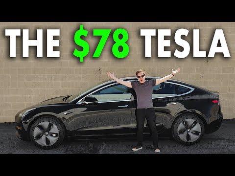 Wie ich einen Tesla für 78 Dollar im Monat gekauft hab