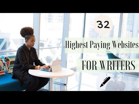 32 bestbezahlte Websites für Schriftsteller | 2019