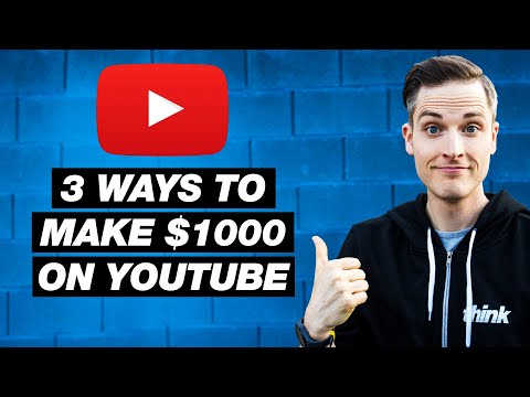 So verdienen Sie 1000 US-Dollar auf YouTube – 3 Möglichkeiten, um mit YouTube Geld zu verdienen