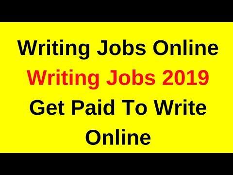 Schreiben von Jobs 2019 | Bezahlt werden, um online zu schreiben | Jobs online schreiben