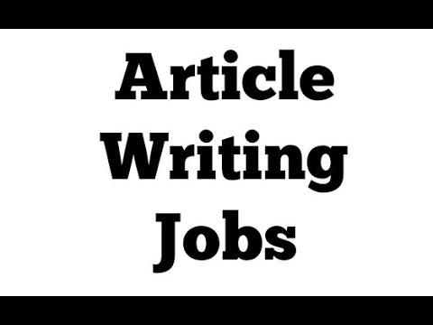 Article Writing Jobs – Bezahlen Sie, um online zu schreiben