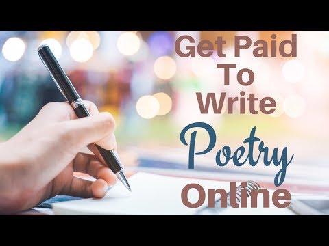 werde dafür bezahlt, online Gedichte zu schreiben