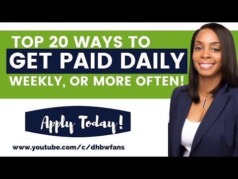 Lass dich schnell bezahlen! 20 Online-Jobs, die täglich, wöchentlich oder innerhalb von Stunden bezahlt werden