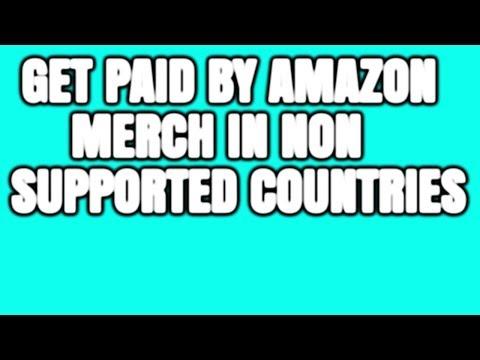 So werden Sie von Merch By Amazon in nicht unterstützten Ländern bezahlt