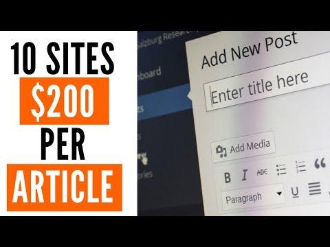 Wie man bezahlt wird, um Artikel online für jeweils 200 US-Dollar zu schreiben