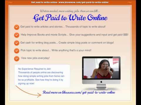 Lass dich dafür bezahlen, online zu schreiben