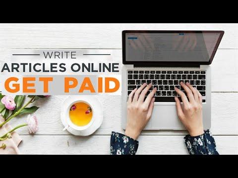 Verdienen Sie Geld, indem Sie Artikel schreiben und bezahlt werden