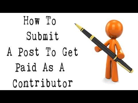 Lassen Sie sich für das Online-Schreiben von Artikeln bezahlen – So senden Sie einen Beitrag