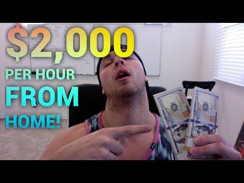 So bekomme ich 2.000 USD pro STUNDE von zu Hause aus bezahlt