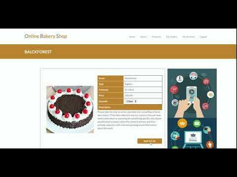 Python Django und MySQL-Projekt auf Online Bakery Sho