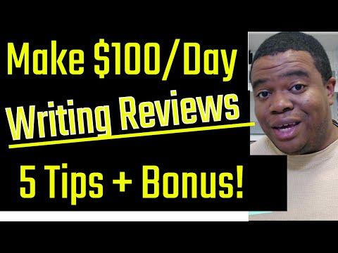 So verdienen Sie 100 USD pro Tag & amp; Werde dafür bezahlt, Bewertungen zu schreiben (5 umsetzbare Tipps)