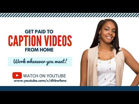 Für Untertitel-TV-Sendungen bezahlt werden & amp; Videos zu Hause – Flexibler Nebenjob in Teilzeit!