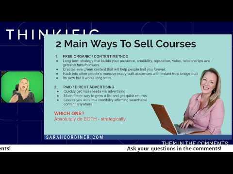 10 Möglichkeiten, Ihren Online-Kursverkauf im Jahr 2020 zu steigern (KEINE bezahlten Anzeigen!)