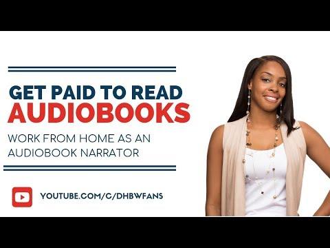 Lassen Sie sich dafür bezahlen, Bücher online als Hörbucherzähler zu lesen