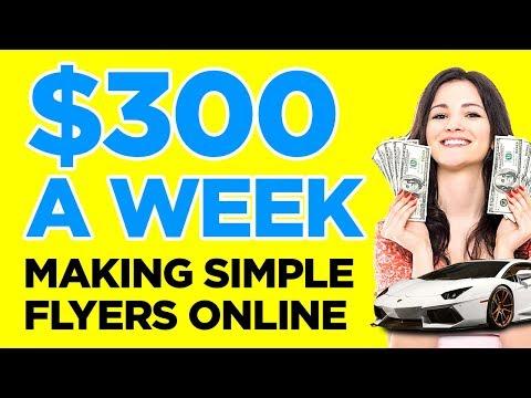 Pro Woche bezahlt werden Einfache Flyer online erstellen (einfache Methode)
